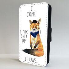 Teléfono Abatible De Humor Divertido Fox Broma Estuche Cubierta para iPhone Samsung