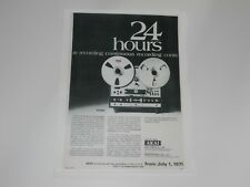 Akai X-330 Pro Reel to Reel Ad, 1971, 1 Page Article and Info