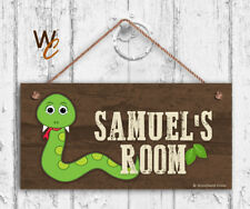 Snake Sign, Personalized Sign, Kid's Name, Kids Door Sign, 5x10 Sign
