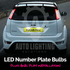 Ford focus 2004-2008 MK2 xenon blanc led plaque d'immatriculation ampoule upgrade kit