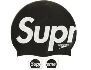 Speedo x Supreme SS20 Silicone Swim Cap Black White - One Size