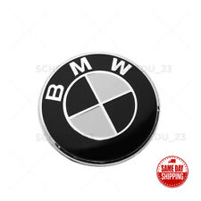 Front Front, Bumper Cover 82mm Black White BMW Roundel Emblem Replacement