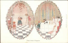 H Willebeek Le Mair Nursery Rhyme Sing Song a Song of Sixpence Postcard
