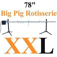 XXL 78'' PIG ROTISSERIE LAMB ROASTER SKEWER  puerco asado palo barbacoa