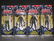 Walking Dead Series 4 Comic Figures Carl Abraham Jesus Pin Zombie Mcfarlane New