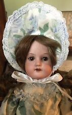 """15"""" Armand Marseille Antique Bisque Doll Brown Sleep Eyes Exc.Leather Body"""