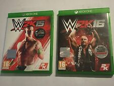 XBOX ONE XB1 GAMES WWE 2K15 WWE2K15 2015 + WWE 2K16 16 PAL COMPLETE DISCS IN VGC