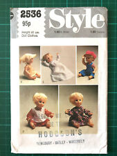 "16"" Baby Dolls Clothes Sewing Pattern Style 2536 - 3 Outfits - Dress Pinafore ++"
