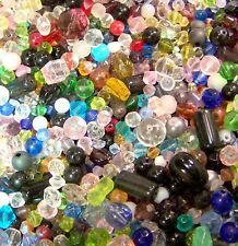 16 oz One Pound Mixed Assorted Glass Beads WHOLESALE Bulk Lot Fast Shipping US