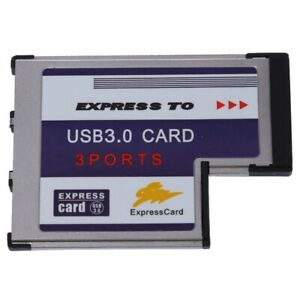 3 Port USB 3,0 ExpressCard Karte 54mm PCMCIA Express Card fuer ebook C7I2