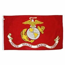 3X5 U.S. Marines Flag 3'x5' Double Sided Marine USMC Semper FI ( Made in USA )
