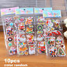 Cute Kids Gift Puffy Lable Christmas Stickers 3D Bubble Sticker Santa Claus