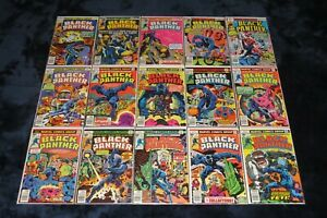 1977 BLACK PANTHER 1 2 3 4 5 6 7 8 9 10 11 12 13 14 15 COMPLETE SERIES KIRBY LOT