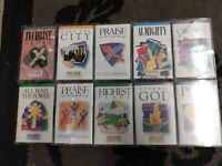 LOT OF 10 ~ TESTED ~ Integrity's Hosanna Music PRAISE & WORSHIP cassette tapes +