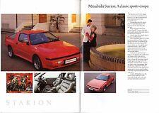 Mitsubishi 1990 UK Market Sales Brochure Colt Lancer Galant Starion Shogun