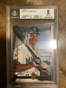 1994 Sp Alex Rodriguez Rookie Rc Bgs 8 With (2) 9.5 Subs