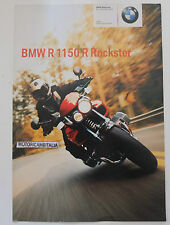 BMW R1150 R ROCKSTER OPUSCOLO   DEPLIANT BROCHURE RECLAME PROSPEKT