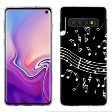 TPU Phone Case for Samsung Galaxy S10 - Music Notes / Black