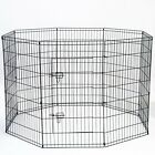 """42"""" Tall Wire Fence Pet Dog Folding Exercise Yard 8 Panel Metal Playpen"""