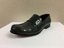 $750 DSQUARED2 Men`s Gray Patent Leather Shoes Size EU 40 UK 6 US 7