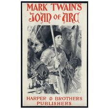 Mark Twain's Joan of Arc Cover Art Deco Magnet, 1894 Eugène Grasset Mini Gift
