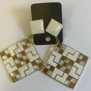 ASOS Square Shape Over Sized Geometric Drop Earrings
