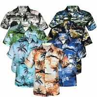 Mens Hawaiian Stag Beach Hawaii Aloha Party Summer Holiday Casual Fancy Shirt