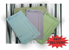 Top Quality 10 Large Restaurant Docket Books TRIPLICATE Carbonless Special