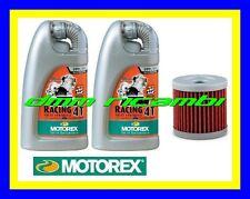 Kit Tagliando SUZUKI DRZ 400 00>12 Filtro Olio MOTOREX racing 20W/60 DR-Z E S SM