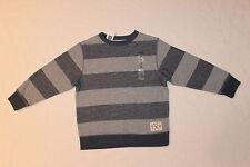 GAP Kids Boys Gray Striped Crew Neck Sweater Size XS (4-5) NWT