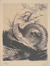 PANN ABEL, Creation, Original S&N Lithograph BIBLICAL THEME Jewish Israeli Art