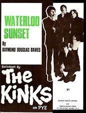 KINKS  POSTER, WATERLOO SUNSET. 60's pop, psychedelia, mod.