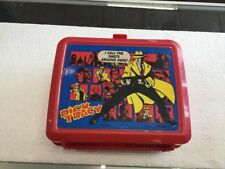 Vintage Aladdin Red Disney Dick Tracy Lunch Box with Thermos
