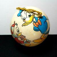 Vintage Disney Large Donald Duck & Nephew Decoupage Christmas Ball Ornament
