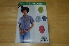 Misses Women's New Look Sewing Pattern 6561 Button Down Shirt Sizes 8-20 Uncut