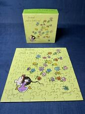 "Vintage 1973 Springbok Mini Greeting Puzzle ""Go Ahead Have A Good Day"" Complete"