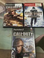 3x Call Of Duty games for ps2 final fronts big red one and finest hour sony