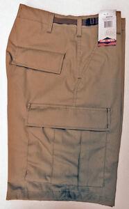 Cargo BDU Shorts - Military Style TRU SPEC Zipper Fly - Brown - MEDIUM