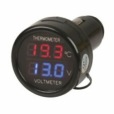 Plug and Play Easy to Use In-car Battery Monitor and Temperature Display