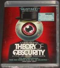 THE RESIDENTS theory of obscurity USA BLU-RAY new sealed DOCUMENTARY RARE VIDEO