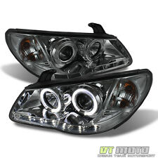 For 2007-2010 Elantra Smoked Halo Projector Headlight w/ DRL Daytime LED Strip