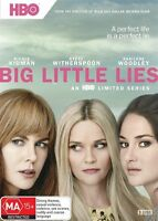 Big Little Lies 3-disc DVD NEW Nicole Kidman Reese Witherspoon Region 4