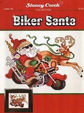 Biker Santa Cross Stitch Leaflet - Stoney Creek Collection 190 - Christmas Santa
