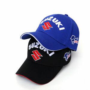 Black/Blue Suzuki Team Baseball Cap Hat Sport Motorsport Racing Cotton New