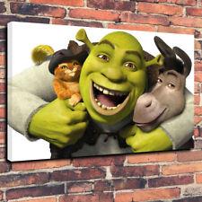 "SHREK, Ciuchino, Gatto Scatola stampata foto su tela A1.30""x20"" 30mm Deep Wall Art"