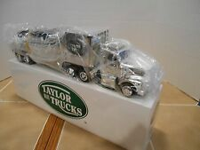 Taylor made Trucks,5th Anniversary chrome race car hauler with 1969 Corvette,NIB