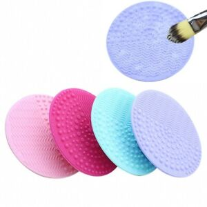 Round Silicone Suction Cup Scrubbing Pad Makeup Brush Cleaning Pad Scrubbing Egg