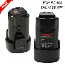 2 Pack 12V 1.5Ah Li-ion Battery for Porter Cable PCL12BLX Cordless Power Tool
