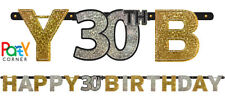 30th Birthday Party Supplies Sparkling BIRTHDAY BANNER