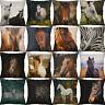 """18"""" Horse Print Cotton Linen pillow case cover cushion cover Home Decor"""